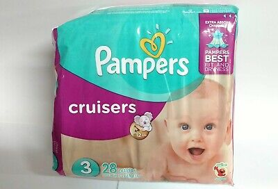 Pampers Cruisers Disposable Diapers Size 3, 28 Diapers, JUMBO