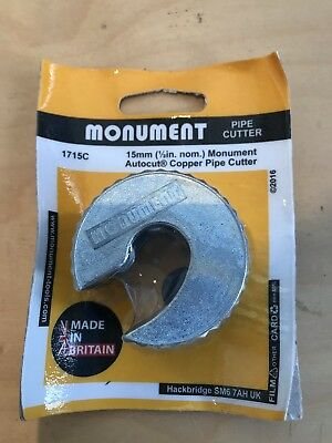 Monument Autocut Copper Pipe Cutter 15Mm 1715C