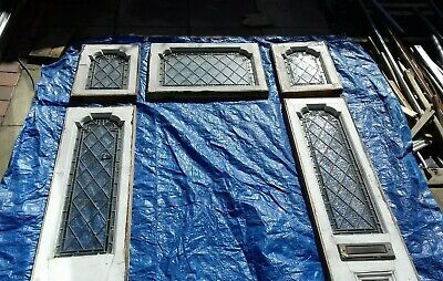 Reclaimed leaded stained glass window panels