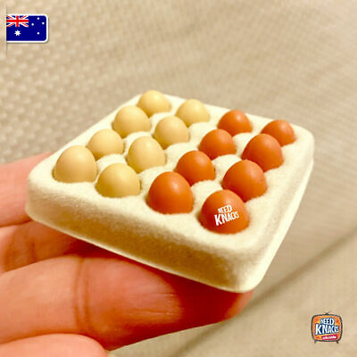 Miniature Eggs w Tray - Miniature dollhouse 1:12 Little Shop Mini Brands