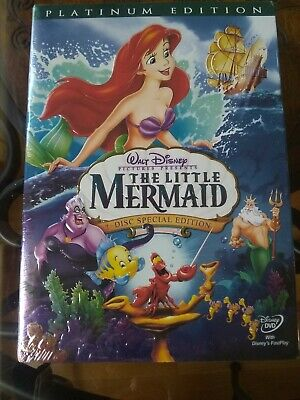 The Little Mermaid (DVD, 2006, 2-Disc Set, Platinum Edition) NEW Walt Disney