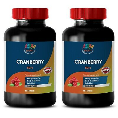 natural antioxidant - CRANBERRY 50:1 EXTRACT - energy boosting vitamins 2 Bottle