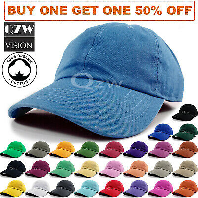 60158d7a17f Polo Style Baseball Cap Ball Dad Hat Adjustable Plain Solid Washed Cotton  Mens
