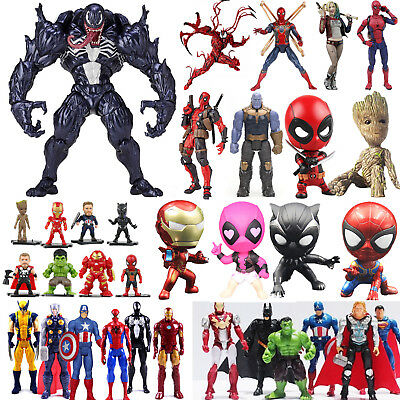 Venom Carnage Superheld Spiderman Deadpool Harley Quinn Action Figur Figuren Neu