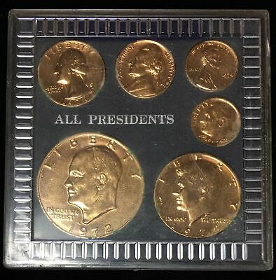 All Presidents Coin Set - Gold Plated - in plastic Holder