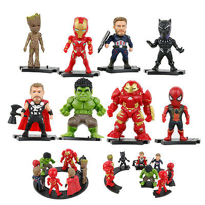 8pcs/Set Marvel Avenger Spiderman Superheld Action Figur Figuren Spielzeug Toys
