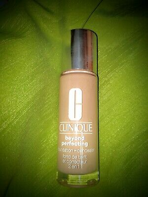 💯 New! Clinique Beyond Perfecting Foundation + Concealer - CN 08 LINEN VF-1 oz