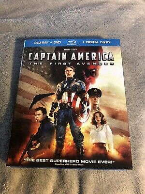 Captain America: The First Avenger (Blu-ray/DVD, 2011, 2-Disc, No Code Marvel