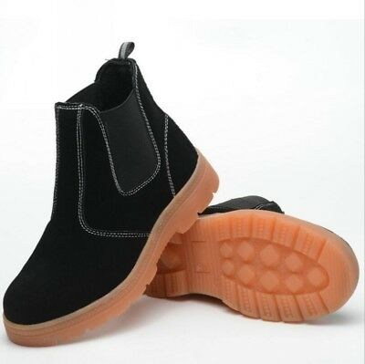 25a82c171ba MENS SUEDE CHUKKA Welder Shoes Steel Toe ankle Boots Autumn Safety ...