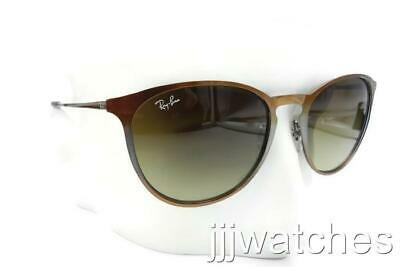cb41f73dc7 New Ray Ban Erika Metal Brown Faded Sunglasses Brown Gradient RB3539 193 13  54