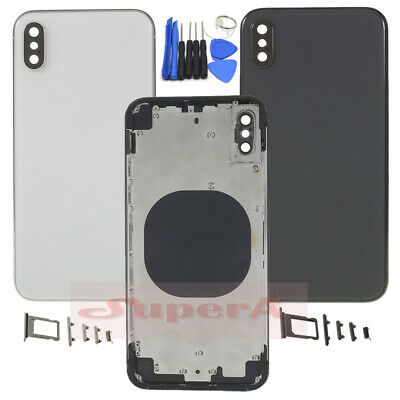 Back Battery Case Cover Glass Door Metal Housing Rear Middle Frame For iPhone X