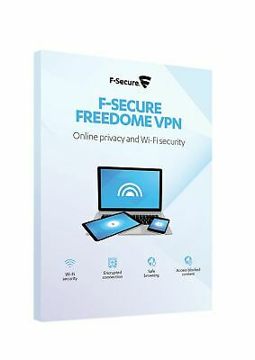 F-Secure Freedome VPN Online Privacy & WiFi Security 3 Devices 1 Year Key