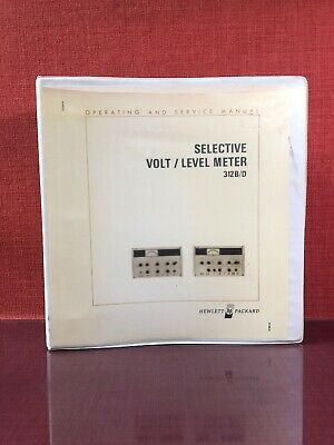 HP Selective Volt/Level Meter 312B/D Operating And Service Manual #2073