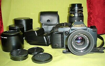 Canon T70 SLR Film Camera Bundle. Full Instructions, Great Condition.