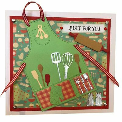 Kitchen Apron Cutting Dies Card Making Scrapbooking For The Chef Housewife DIY