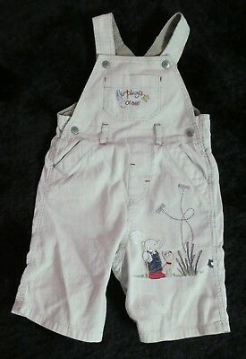 Mothercare Humphreys Corner Baby Cotton Dungaree Age 6-9 Months