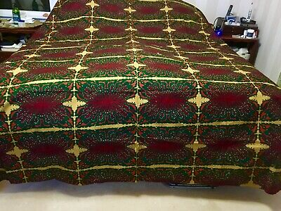 "90""x102"" Vibrant Dutch Bed Cover/Wall Hanging Made for the South African Market"