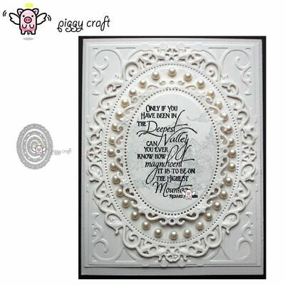 Lace Oval Background Cutting Dies Scrapbook Lace Frame DIY Stencil Paper Craft
