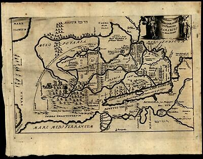 Land of Paradise Paradisi in Terra Canaan Middle East 1712 rare miniature map