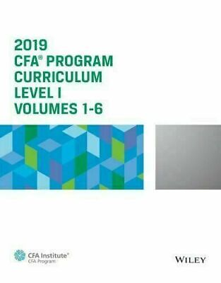 CFA Program Curriculum 2019 Level I, Volumes 1-6 [PDF]