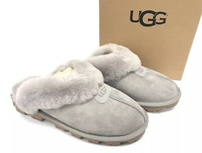 3a270c4aae0 UGG AUSTRALIA COQUETTE Seal Grey Gray 5125 Women's Slippers House Shoes  Women's