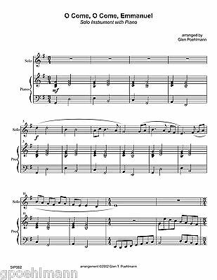 11 TROMBONE CHRISTMAS arrangements solo/duo/trio+ Sheet