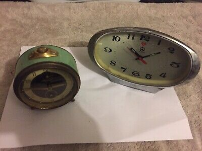 Joblot Of Two Old Clocks
