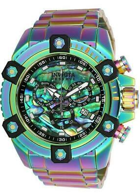 Invicta Reserve Grand Octane 25185 Rainbow Abalone Swiss Chronograph Watch RARE