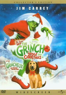 Dr. Seuss' How the Grinch Stole Christmas Carrey Widescreen (DVD) DISC ONLY #B20