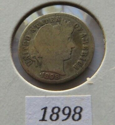 1898 Barber Dime ~ A Great Old Silver Dime! ~ 121 Years Old
