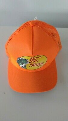 65a77934f9f25 Bass Pro Shops Fluorescent Mesh Back Adjustable Trucker Hat New Free  Shipping !