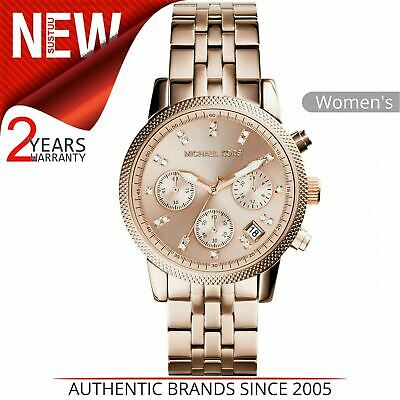 64bb010208a Michael Kors Ritz Montre Femmes Mk6077 │ Chronographe Cadran │ or Rose  Bracelet