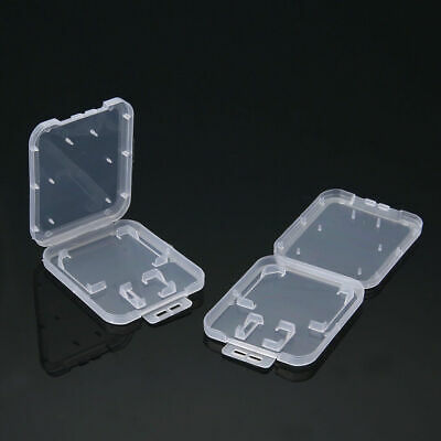 10X SD SDHC Memory Card Cases Holder Box Storage Hard Plastic Transparent Holder
