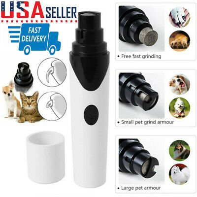 USB Rechargeable Pet Nail Grinders Electric Dogs Cat Nail Clippers Trimmer Tools