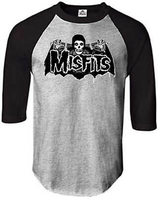MISFITS Batfiend Raglan 3/4 Long Sleeve T SHIRT S-M-L-XL New Hi Fidelity Merch
