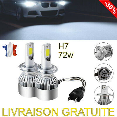 Kit Ampoules Led H7 72W 6000K Conversion Phare Xenon Voiture Headlight Blanc 🚗