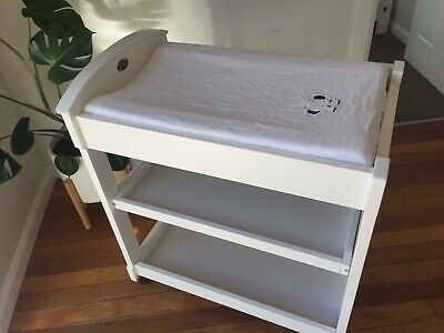 Boori Country 3 Tier Change Table White (change mat included)