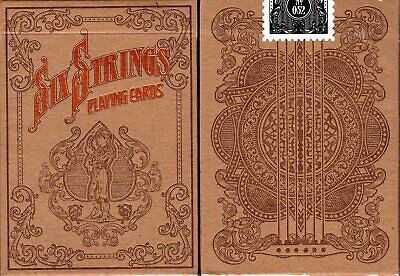 Six Strings Playing Cards Poker Size Deck USPCC Custom Limited Edition Sealed