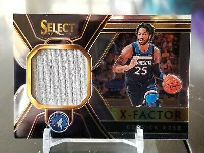 eae2d97f6691 DERRICK ROSE 2018-19 Select Basketball Game Worn Jersey Relic Sp  76 ...