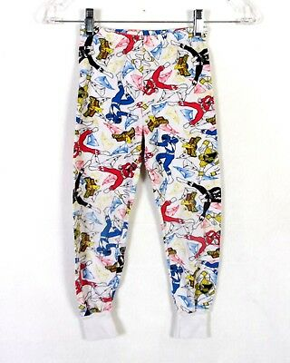 vtg 90s Mighty Morphin Power Rangers Kids Pants PJ's 1995 Saban Youth M 6/7