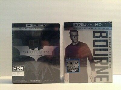 The Bourne Ultimate Collection + The Dark Knight Trilogy [4K UHD+Blu-ray+DC]