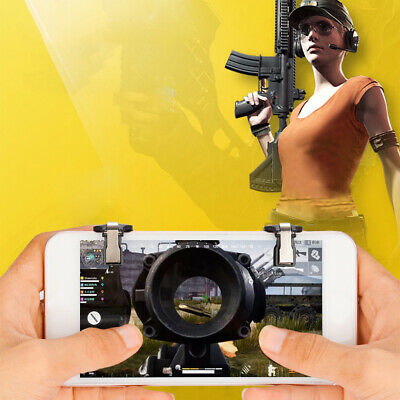 1 Pair For PUBG 4.6-6.5inch Mobile Phone Controller Game Button Handle Trigger