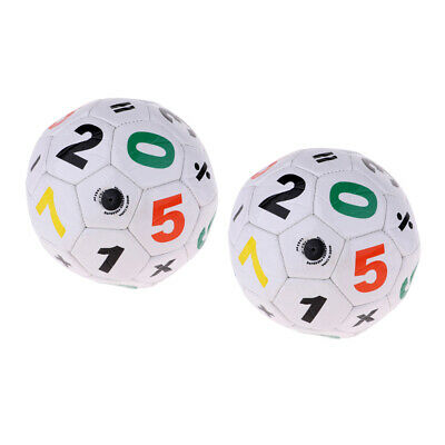 2pcs Unisex Kids Children Size 2 Football Soccer Ball Training Aid