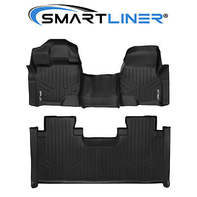 Maxliner Custom Floor Mats Set Black 2015-2019 F-150 SuperCab W/ Bench Seat