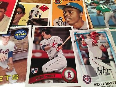 2019 Topps Series 1 Iconic Card Reprints Inserts: Trout, Gehrig, Ruth, Aaron, Pi