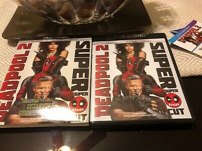 Deadpool 2 Super Duper Cut (4K UHD, Blu-Ray, 3-Disc Set) W/Slipcover & Digital