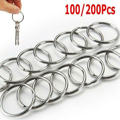 Steel Keyring Split Key Rings 25Mm Nickel Hoop Ring Nickel Plated Steel Loop-EN