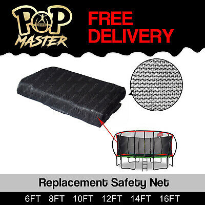 Replacement Curved Trampoline Safety Net Enclosure 6ft 8ft 10ft 12ft 14 16 foot