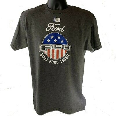 Ford F-150 Emblem T-Shirt w/ American Flag - Built Ford Tough (Licensed)