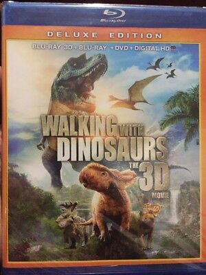 Blu-ray 3D+Blu-ray+DVD Digital HD ~ Walking With Dinosaurs  - Deluxe Edition New